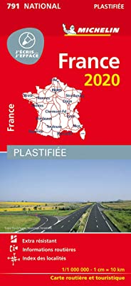 Carte France Plastifiée MICHELIN 2020