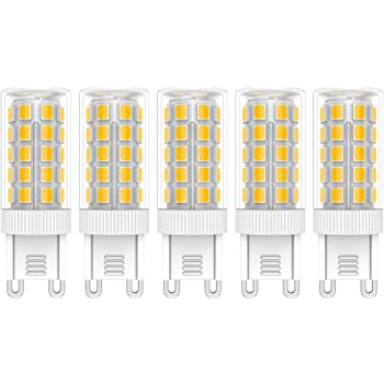 5X G9 Bombillas de LED 5W Iluminación Bombillas Blanco Cálido 3000K Lámpara LED 44 SMD 2835LEDs Super Brillante 450LM LED Lamps AC220V-240V