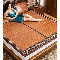 Doppelseitige Gebrauchsbett-Matte - Faltbare kühle Bambusgewebte Matratze Doppelseitige Verwendung Für Sommer- Einzel- / Doppel- / Königsgröße - natürlicher Bambus und Rattan Klappbett-Matte preisvergleich bei kinderzimmerdekopreise.eu