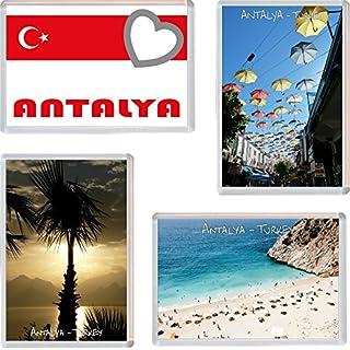 Antalya - Turkey - 4 PACK - Jumbo Fridge Magnet/Magnets Gift/Souvenir/Present