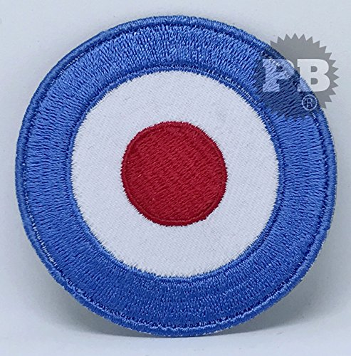 Lambretta Mod Shooter Target Scooter Blue-Shooting Flag Embroidered Patch