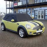 UK Custom Covers RP115 Tailored Soft Top Roof Half Cover - Black