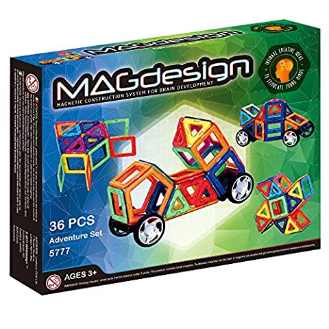 MAGdesign Adventure Set (36 PCS) Magnetic construction system for brain development