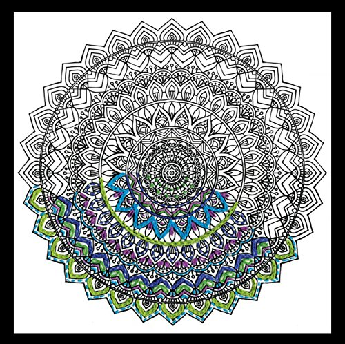 Zenbroidery bedruckter Stoff Mandala Stickerei Kit, Baumwolle, weiß -