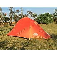 Doppia luce esterna 2 Singolo alluminio Pole Tende Coppia Camping