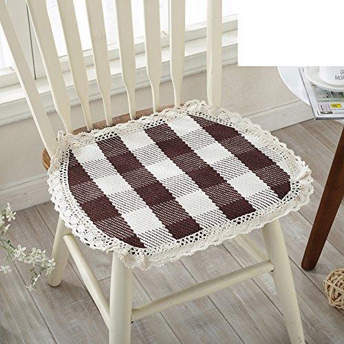 Baumwolle Outdoor-tisch (Vier jahreszeiten baumwolle thread oval sitzkissen,Gewebte sitzkissen Winter-tisch-stuhl-kissen Dining stuhl kissen Büro-kissen-hocker-sitzkissen-E 45x50cm(18x20inch))