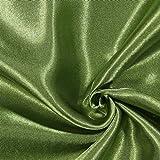 Fabulous Fabrics Polyestersatin Stoff helloliv — Meterware ab 0,5m — Satin zum Nähen von Kissen und Tagesdecken, Tischdekorationen und Bettwäsche
