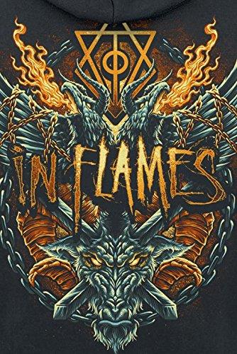 In Flames Crusader Enchantment Sweat à capuche zippé noir Noir