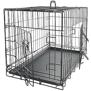 """oxgord fil Cage Pet Niche pour chien/chat Double porte en métal en acier inoxydable """""""" sans séparation–2014nouvellement conçu"""