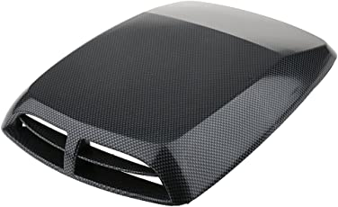 Segolike Universal Car SUV Carbon Fiber Engine Air Flow Hood Scoop Vent Self Adhesive Fits for All Cars