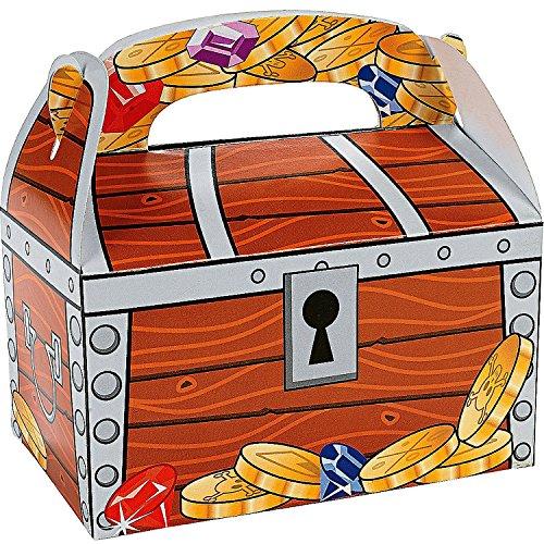 German Trendseller 12 x Piraten Schatzkisten ┃ Piraten Party Boxen mit Griff ┃ Piraten Loot ┃ Kindergeburtstag