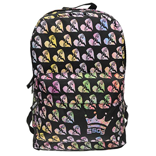 rocksax-5-seconds-of-summer-licensed-band-backpacks-and-bags-5-seconds-of-summer-safety-pin-heart