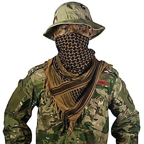 OneTigris Cotton Arab Shemagh Tactical Keffiyeh Desert Head Scarf for Men & Women