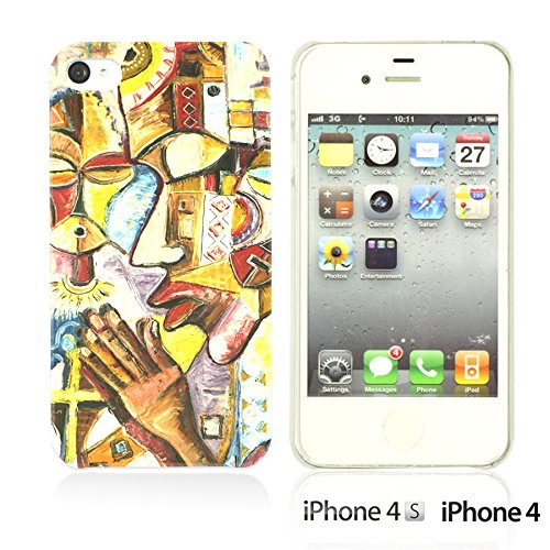 OBiDi - National Pattern Hardback Case / Housse pour Apple iPhone 4S / Apple iPhone 4 - Colorful Elephant ArtWork Prayer