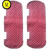 Yellow Weaves™ Multi-Purpose Maroon & Black Dote Handle Cover for Refrigerator,Car/Oven - 14 X 6 Inches (Pack of 2)