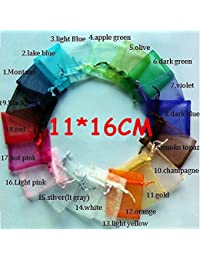 Generic Wholesale Drawstring Pouches Organza Bags 11x16cm Multi Colors Jewelry Packaging Gift Bags,Packing Bags...