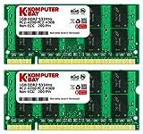 Komputerbay PC2 4300 533 SODIMM - Kit de 2 memoria SODIMM (2 x 1 GB, DDR2, 533 MHz, PC2-4200)