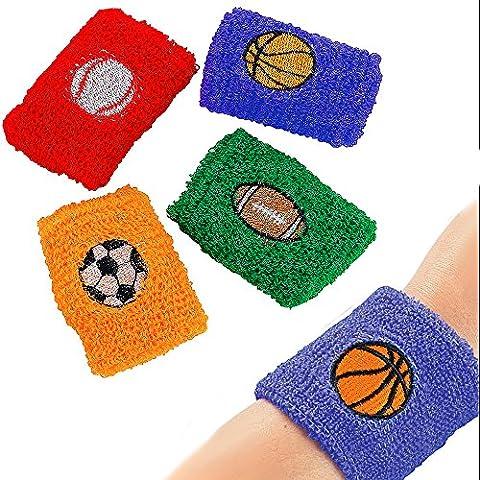 German Trendseller® - 6 x Sport Schweißband ┃6 cm ┃ Fußball , Basketball ... ┃ Verschiedene Farben und Sport - (Xbox Weihnachten Spiele)