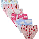 ORPAPA Little Girls Knickers Underwear Toddler Kids Rainbow Briefs Pants 6 Pack Cotton Girls Underpants 2-7 Year