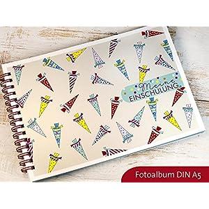 Fotoalbum DIN A5 Erinnerungsbuch für Einschulung Schulanfang Schuleinführung Motiv Schultüte
