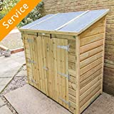 Wooden Shed or Storage Box Assembly