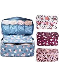 Xayira Women Mack-Up Bra Underwear Organizer Bag Slide Portable Cosmetic Makeup Lingerie Toiletry Travel Bag With...
