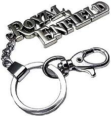 Royal Enfield Keychain & Keyring (Silver)
