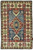 Nain Trading Kazak 93x61 Orientteppich Teppich Beige/Rost Handgeknüpft Afghanistan