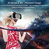 "Shag VR Shinecon 5.0 (LATEST 2017 VERSION, LIGHTEST VR 140 GRAMS, IMPROVED FOV & 42MM HD RESIN LENS) Virtual Reality Headset Mobile 3D Glasses For IPhone, Samsung, Android Universal Cardboard For All Smartphones 3.5"" ~ 6"""