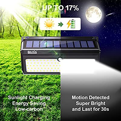 Solar Light,BAXiA Upgraded 28 LED Solar Powered Security Lights,Waterproof Wireless Motion Sensor Outdoor Lighting for Outside Wall,Patio,Yard,Fence,Garden,Pathyway,Driveway (2 Packs)