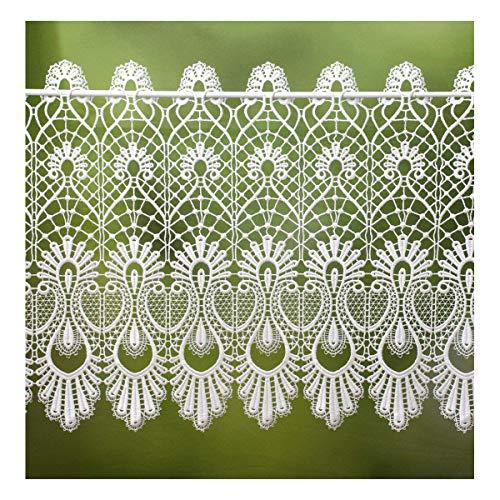 Unbekannt Scheibengardine 40 cm hoch x 80 cm breit weiß Spitze Landhausstil