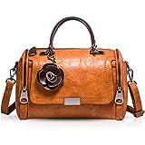 NICOLE & DORIS Damen handtaschen Frauen Retro Tasche PU Leder Schultertasche Vintage Top Griff Klein Blumen Crossbody Umhänge