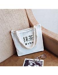 official photos 8ba98 93c61 CICOCO Lässige Tote Bag Trendy Bag Weiblicher Matcha  Segeltuch-Schulter-Beutel-einfache Datei