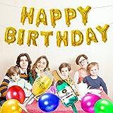 SPECOOL Alles Gute Zum Geburtstag Champagner Flasche und Becher Ballon, Gold Dekoration Party Supplies Champagner Flasche Becher Große Folie Mylar Folienballons Dicke Latexballons Bunte