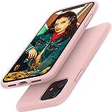 Gorain Coque pour iPhone 11, Silicone Liquide Housse de Téléphone Protection Antichoc Anti-Slip Etui pour 6.1 Pouces - Rose C