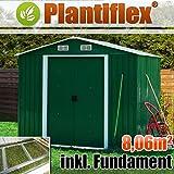 Plantiflex - Casa de metal (260x 310 cm, para jardín), verde