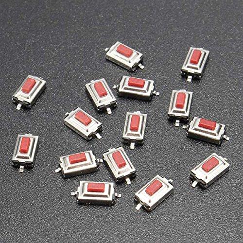 Bluelover 15Pcs 3x6x2.5MM Momentary Tact SMD SMT Drucktaster Mikroschalter 2 Pin