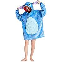 Couverture à Capuche Flanelle Douce Couverture Sherpa Robe Sweat Pull Chaude et Confortable TV Couverture Sweat à…