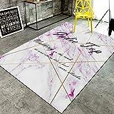 TWGDH Modern Area Teppiche Marmor Visuelle Wirkung Teppich Wohnzimmer Schlafzimmer Krabbeldecke Läufer Teppich,#3,140 * 200Cm