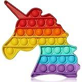 Unicorn Pop Its Fidget Toy, Push Pop Bubble Fidget Sensory Toy for Kids, Autism Sensory Toy to Relieve Stress, Learning Educa
