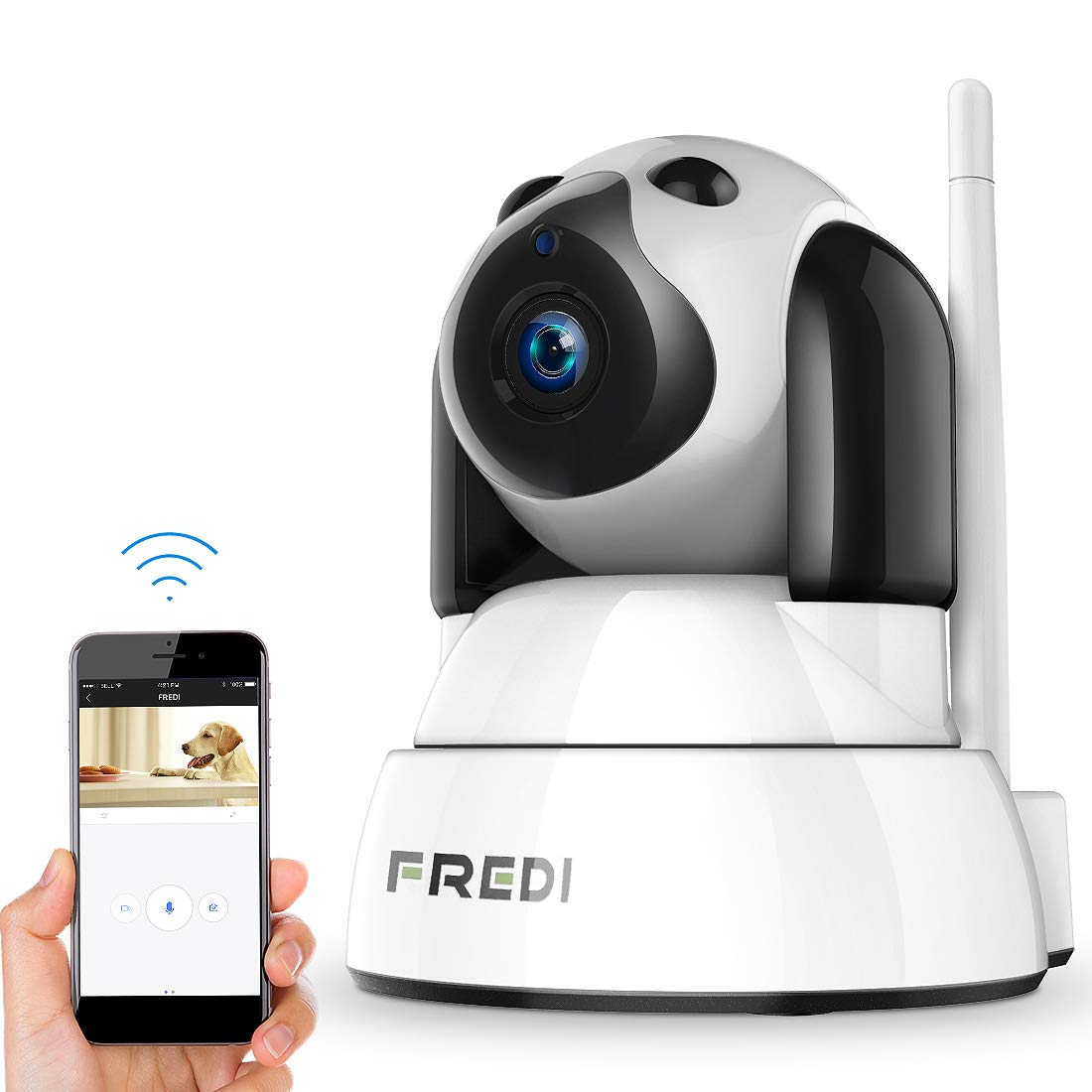 FREDI Pet Cameras,Dog Cameras, Wireless Camera 1080p,Baby Camera Monitor Wifi,Security House Camera Indoor,Surveillance…