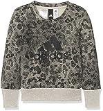 adidas Crew Mädchen Sweatshirt, grau (Mgsogr/Black/Black), 164