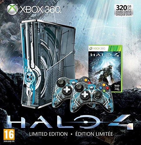 Console Xbox 360 320 Go + 2 Manettes + micro-casque + Halo 4 – bundle édition limitée