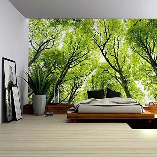 Natur Landschaft Grüne Bäume Wald 3D Bild Drucken Wand Hängen Tapisserie Wand Wandmalerei Kunst Décor Yoga Meditation Matte Bettdecke Für Schlafsäle Wanddekor Wohnaccessoires Deko Wandteppiche , 001 , 150*200cm (Wand-dekor Urban)