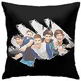 N / A Funda de cojín de One Direction, 45 x 45 cm, para salón