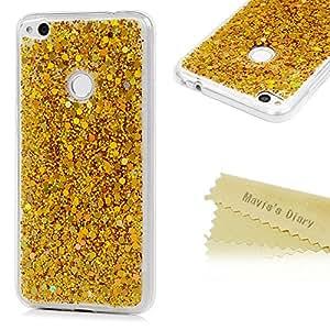TPU Silikon Hülle für Huawei P8 Lite 2017 Handyhülle Mavis's Diary Schale Etui Bumper Protective Case Cover Rück mit Mehrfarbige Beschichtungen Gold Design Skin
