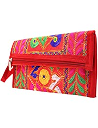 Craft Trade Handmade Designer Embroidered Rajasthani Clutch Bags For Women And Girls