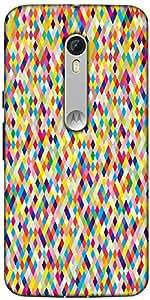 Snoogg Aztec Digitalisation Designer Protective Back Case Cover For Motorola Moto X Style
