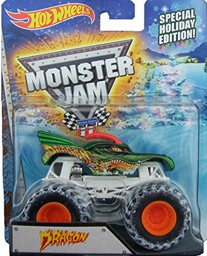 2015 Hot Wheels Monster Jam Special Holiday Edition Dragon Exclusive by Hot Wheels