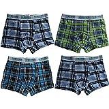 4/6/8/12er Pack Kids Karierte Boxershorts Jungen Shorts Boxer Greenice Kinder Unterwäsche Baumwoll-Mix Gr. 92 - 120